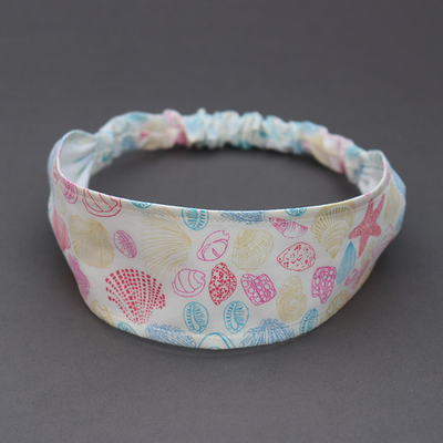Bandeau en Liberty Coquillages taille 4 - 7 ans