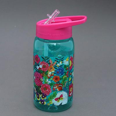 Gourde + paille sans BPA Mon jardin pour enfant