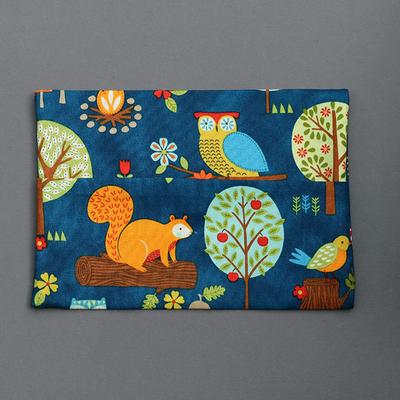 Pochette pour serviette enfant Ecureuil et hibou