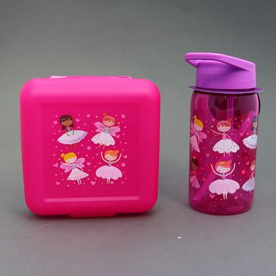 Lot gourde et boite à goûter sans BPA Les fées danseuses