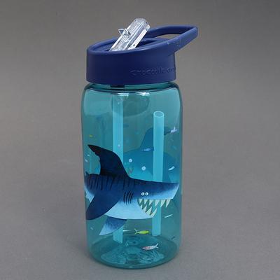 Gourde avec paille sans BPA Les requins