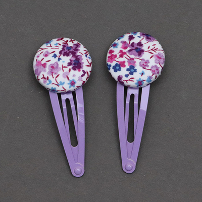 Duo de barrettes enfants Liberty Phoebe violet