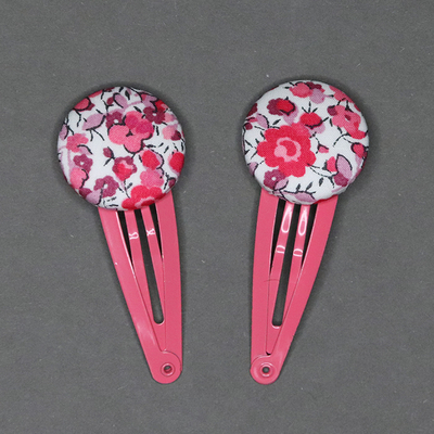 Duo de barrettes enfant en Liberty Emma et Georgina rose