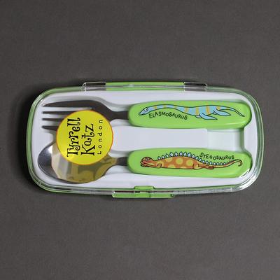 Lot cuillère et fourchette pour enfant Dinosaures