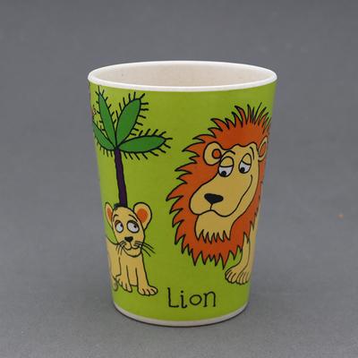 Gobelet en bambou pour enfant Zèbre et lion