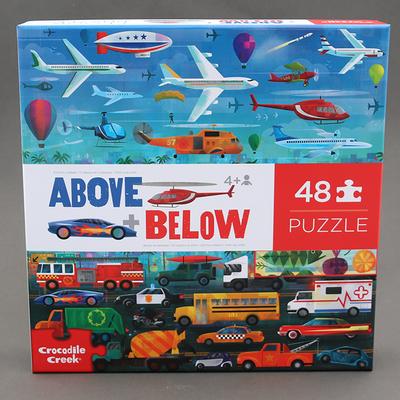 Puzzle 48p Dessus dessous pour enfant Véhicules