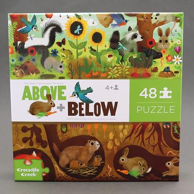 Puzzle 48p Dessus dessous pour enfant Animaux