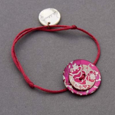 Bracelet en nacre rose vif La lutine