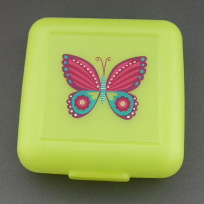 Boîte à goûter Joli papillon Crocodile Creek sans BPA