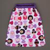 serviette_table_enfants_cou_elastique_princesses_violettes