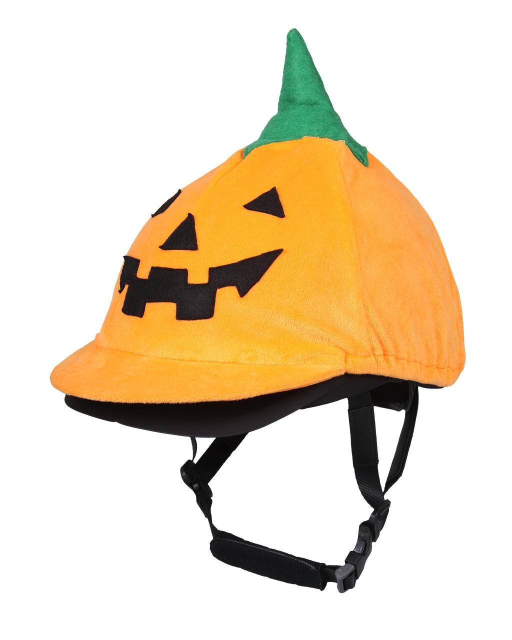 Couvre casque Halloween citrouille
