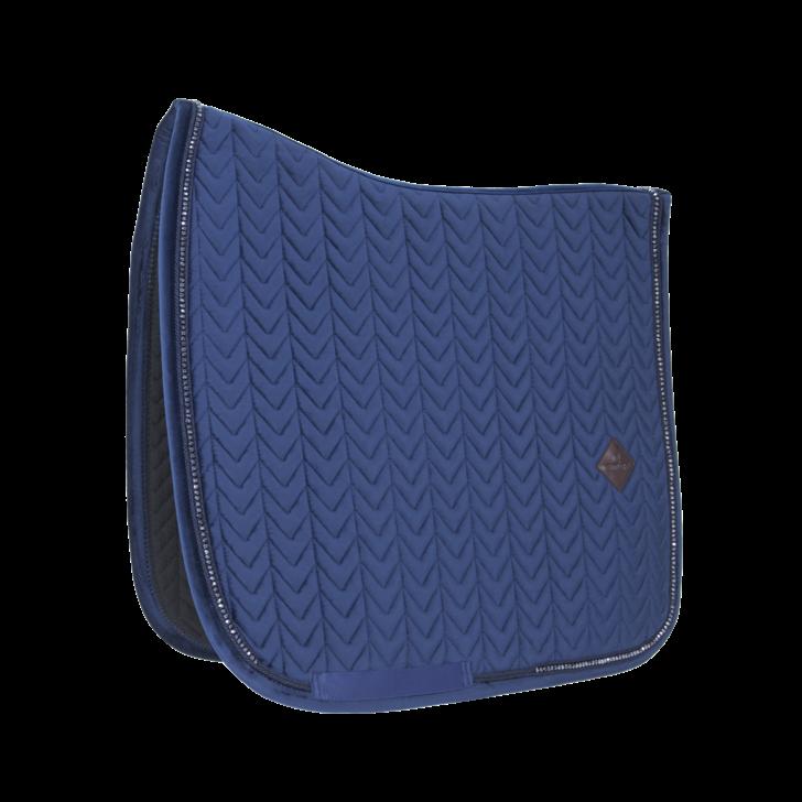 tapis-de-selle-dressage-velvet-pearls-navy-kentucky-bleu