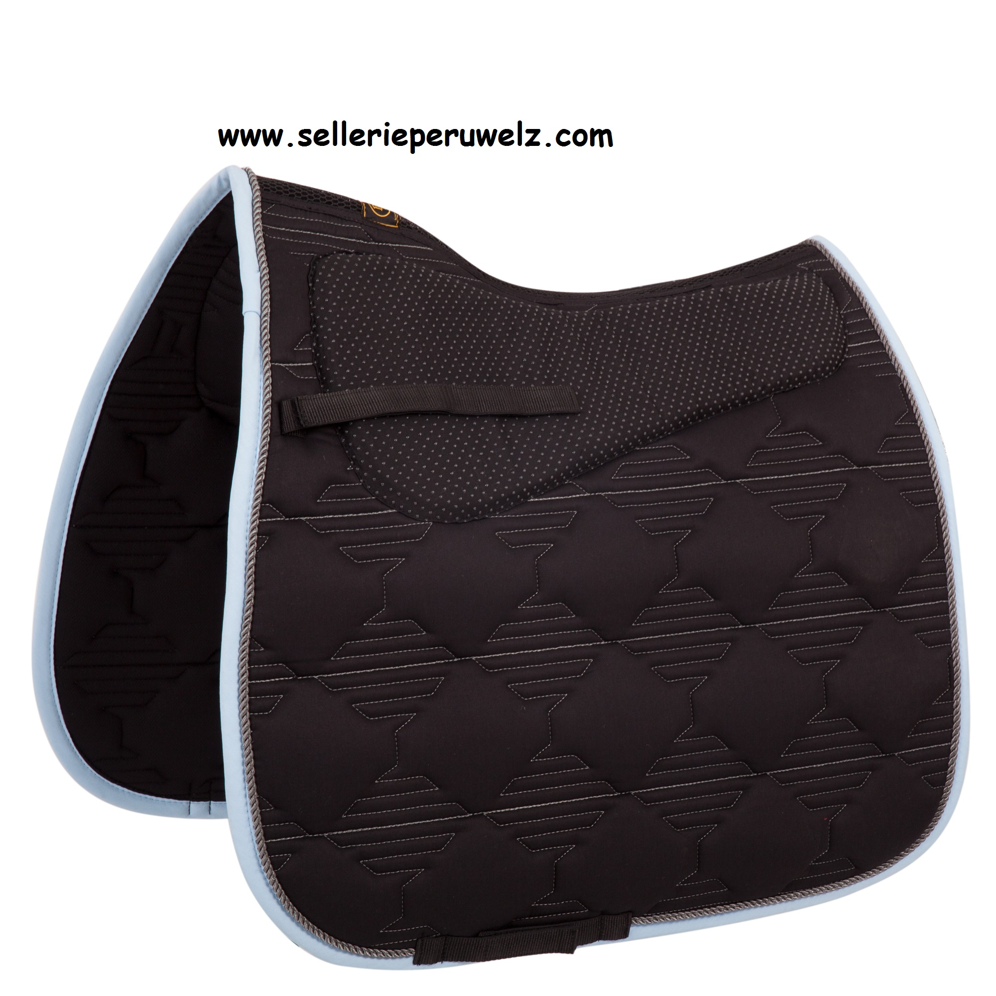 tapis de selle avec amortisseur int 233 gr 233 et couture dorsale airflow