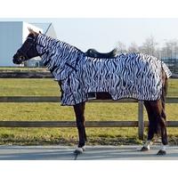 Chemise anti-mouches de monte avec encolure Zebra