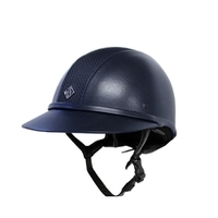 Casque SP8 Leather Look navy Charles Owen