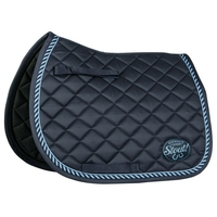 Tapis de selle poney Stout bleu marine Harry's Horse