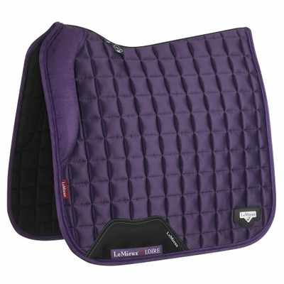 tapis de selle dressage lemieux loire blackcurrant satin