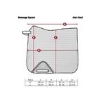 cotton dressage square taille