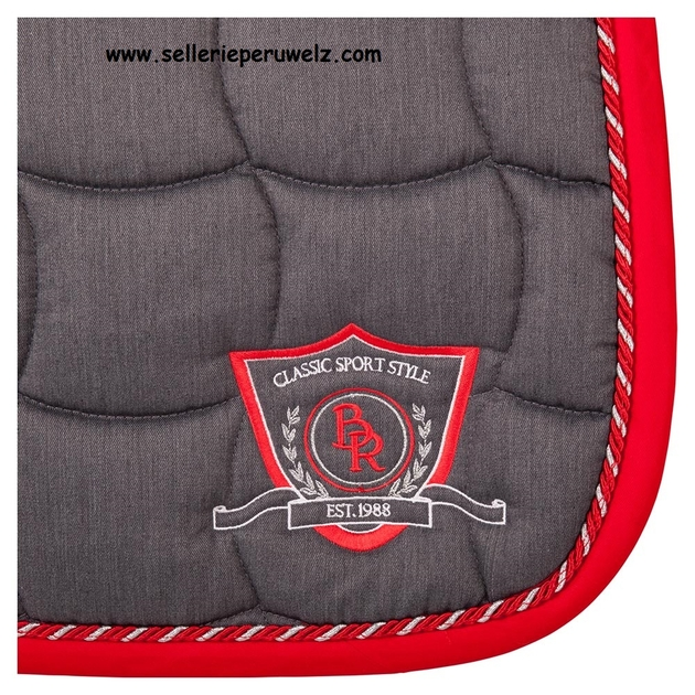 tapis de selle mixte br melange gris rouge with tapis. Black Bedroom Furniture Sets. Home Design Ideas
