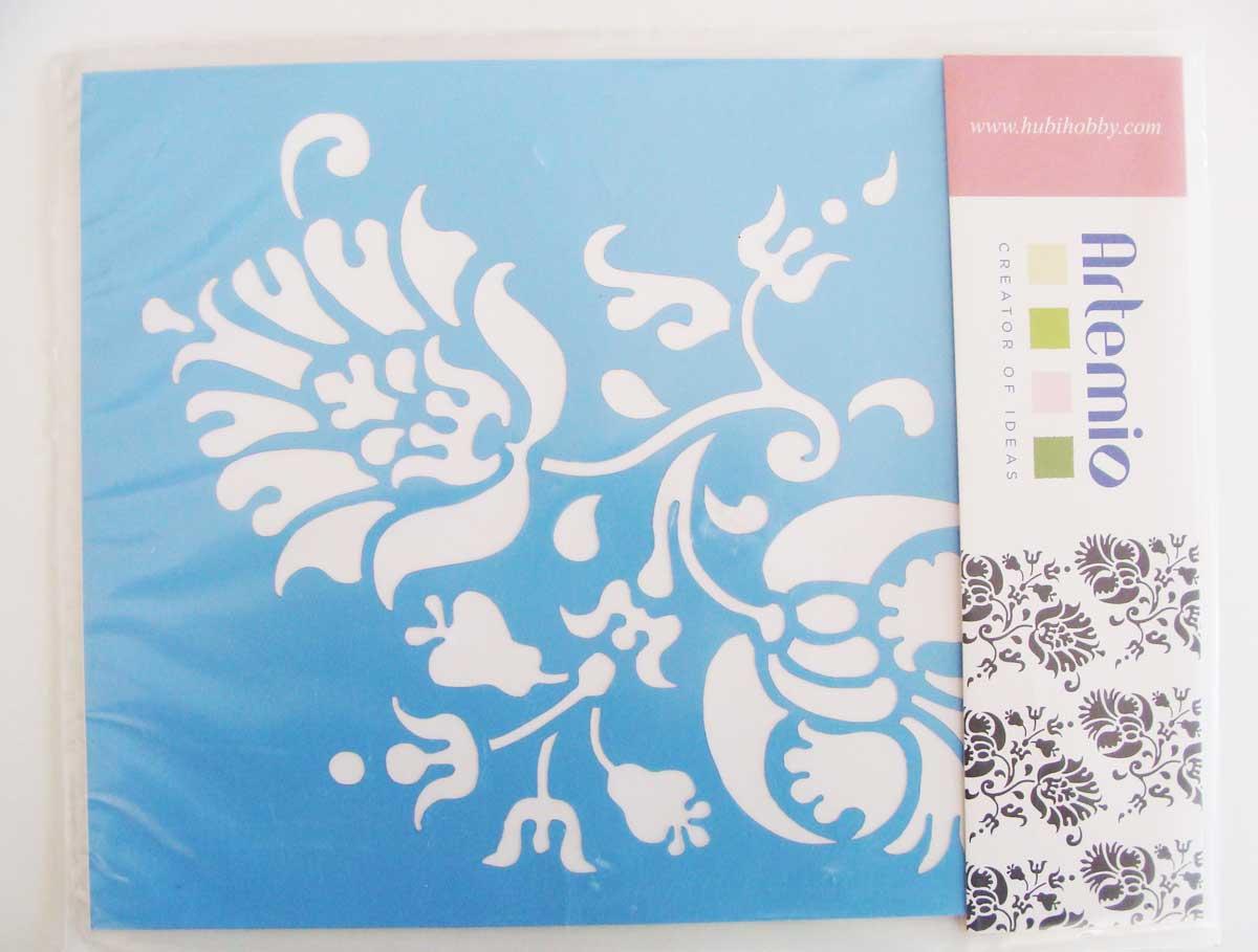 Pochoir fleur mod1 artemio 26x20mm destockage loisirs - Boutique de loisirs creatifs ...