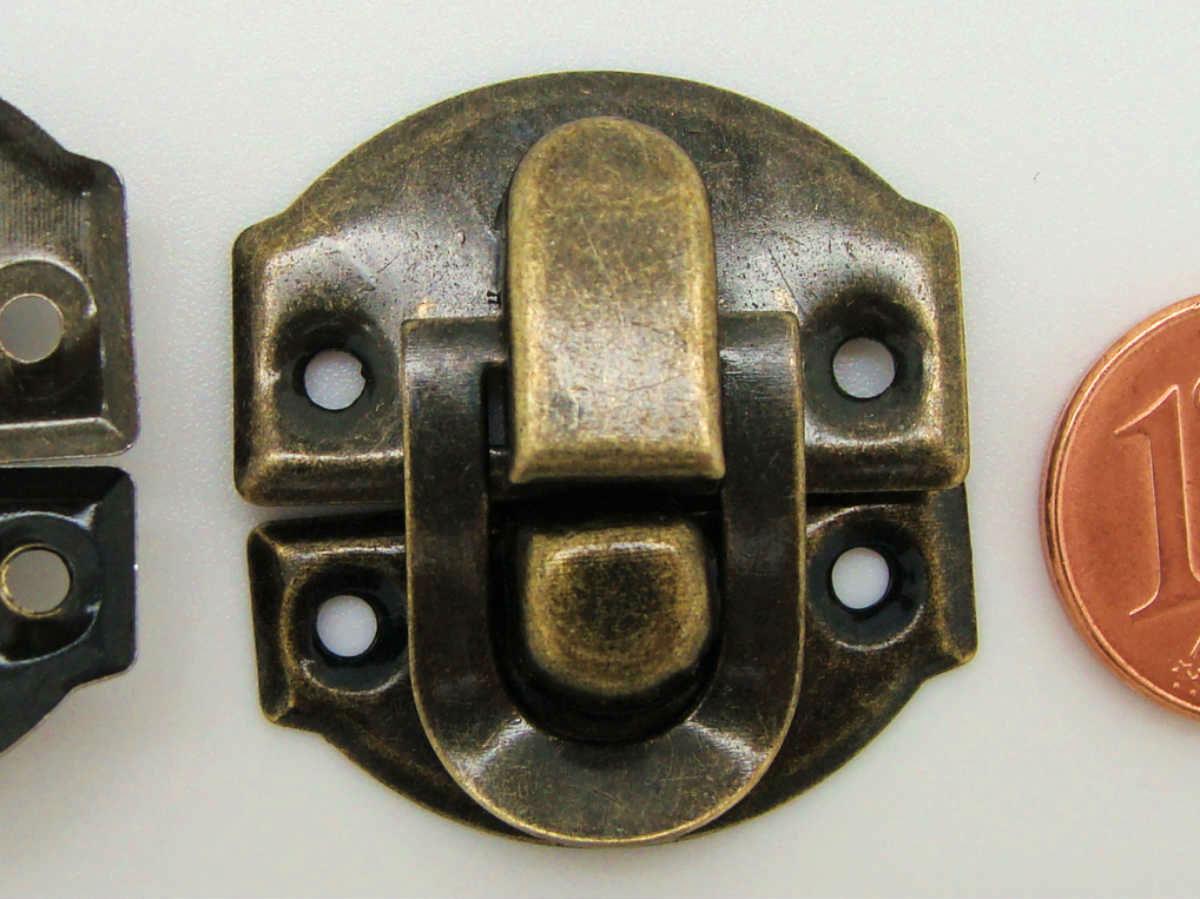 1 FERMOIR rabat rond Bronze 40mm a visser clouer Cartonnage Scrapbooking