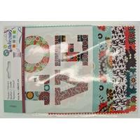 Tissu mix 4 Motifs Fleurs Love Artemio Oldies 15x15cm par 8 coupons
