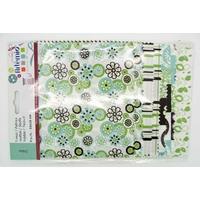 Tissu mix 4 Motifs Fleurs Artemio Oldies 15x15cm par 8 coupons