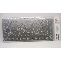 Peel Off motifs Printemps Argenté planche 23x10cm Stickers Artemio