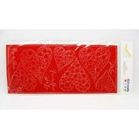 Peel Off motifs Coeurs Rouges planche 23x10cm Stickers Artemio
