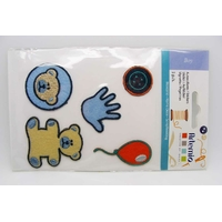 Autocollants Stickers Thermocollants Feutrine Boy par 5 pcs