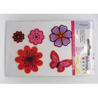Autocollants Stickers Thermocollants Feutrine Flowers par 5 pcs
