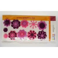 Embellissements appliques Feutrine FLOWERS Fleurs par 11 pcs