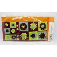 Embellissements appliques Feutrine OLDIES carré Fleurs par 18 pcs
