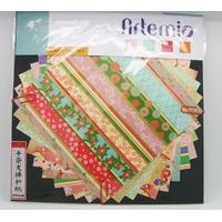 Papier Japonais washi 15x15cm mix 10 feuilles mod1
