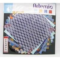 Papier Japonais washi 15x15cm mix 10 feuilles mod2