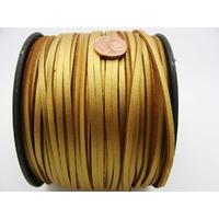 Suedine faux daim aspect croute cuir DORE par 2 mètres