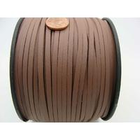 Suedine faux daim aspect croute cuir MARRON FONCE par 2 mètres