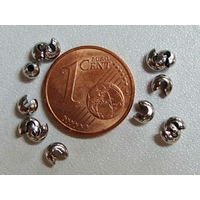Cache-noeuds ARGENT VIEILLI simples petits argentés 3,5mm par 50 pcs