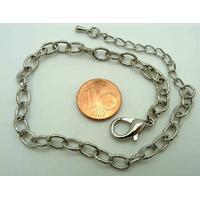 Bracelet Métal argenté Vieilli CHAINE OVALE 21+5cm MOD3 par 1 pc