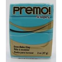 Premo! Sculpey Pâte polymère Pain 57 grammes BLEU TURQUOISE
