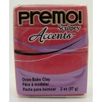 Premo! Sculpey Pâte polymère Pain 57 grammes ACCENTS PERLE MAGENTA