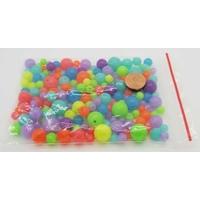 """Perles Acrylique Rondes MIX couleurs unies """"FLUO"""" tailles 6 à 12mm par 50 grammes"""