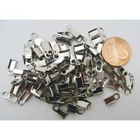 Embouts à écraser métal argenté moyens serre-fils par 100 pcs