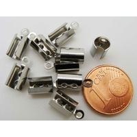 Embouts à écraser serre-fils acier inoxydable pour cordons ronds jusqu'à 4mm par 10 pcs