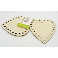 Coeur contour perforé en bois 100mm à décorer par 3 pcs