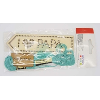 Kit broderie Marque-page bois 14cm PAPA