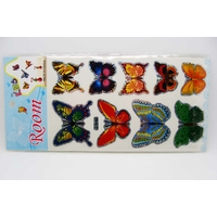 Stickers Papillons 3D Autocollants par 1 planche de 9 pcs aléatoire