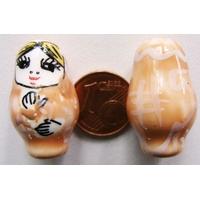 Perles Poupées Russes Porcelaine BEIGE par 2 pcs