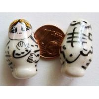 Perles Poupées Russes Porcelaine BLANC par 2 pcs