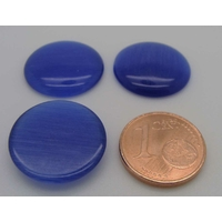 Cabochon Oeil de Chat Ronds 18mm BLEU MARINE par 4 pcs